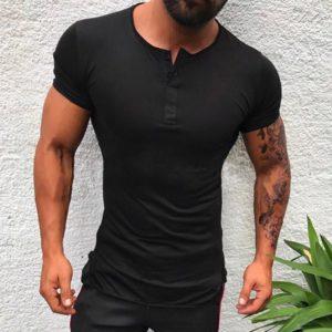 Pánské módní triko s knoflíčky Daniel