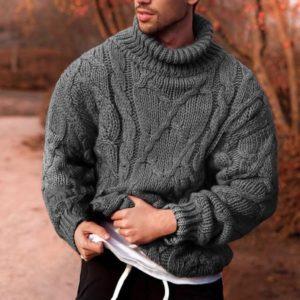 Pánský teplý pletený rolák Bennett - kolekce 2020