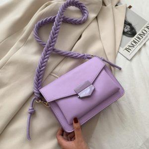 Dámská luxusní kabelka s pleteným popruhem Ellory