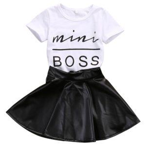 Dívčí trendy letní souprava Violet - sukně, triko