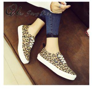 Dámské módní boty s leopardím vzorem Lovey