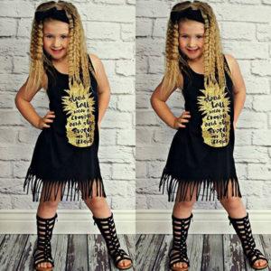 Dívčí ležérní šaty s třásněmi Tootsie - kolekce 2020