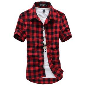 Pánská moderní kostkovaná košile
