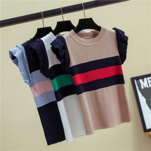 Dámský stylový pulovr s krátkým rukávem Bonny