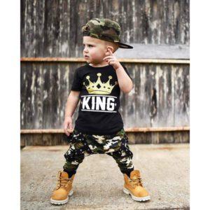 Chlapecká maskáčová street souprava King