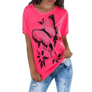 Dámské stylové triko Butterfly