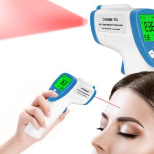 Digitální bezkontaktní teploměr s LCD pro dospělé i děti