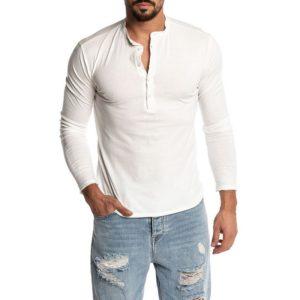 Pánské stylové triko s dlouhým rukávem Vasquez