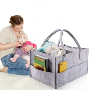 Praktický přenosný pořadač pro věci na miminko