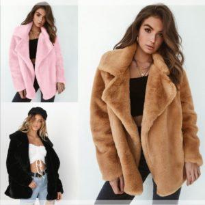 Dámská luxusní zimní plyšová bunda Tess