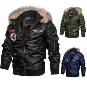 Pánská trendy zimní bunda s kožíškem Nick