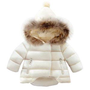 Dívčí zimní kabátek s kapucí - 3 barvy