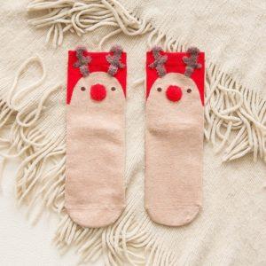 Dámské luxusní ponožky s vánočním motivem