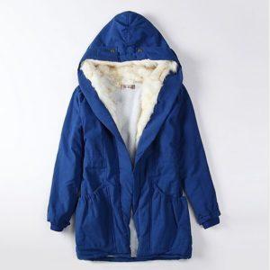 Dámský moderní kabát s kožíškem Sandra