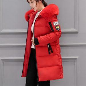 Dámská luxusní dlouhá zimní bunda Velma