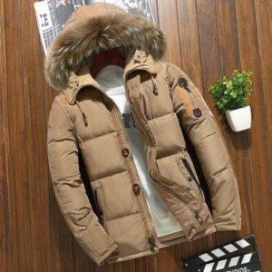 Pánská luxusní zimní bunda s kožichem Villa