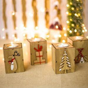 Vánoční stojánek na svíčku Nazia
