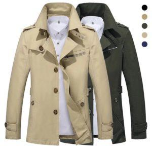 Pánský podzimní stylový kabát