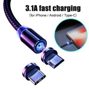 2.4A rychlý magnetický USB kabel