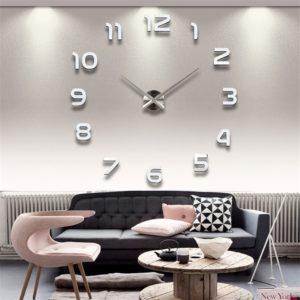 Stylové 3D hodiny na zeď