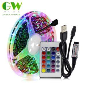 LED osvětlení na záda televize napájené USB
