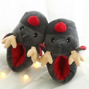 Dámské vánoční papuče ve tvaru soba