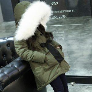 Dívčí stylová zimní army bunda Noa
