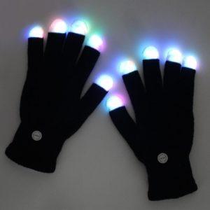 Unisex zimní rukavice s LED špičkami