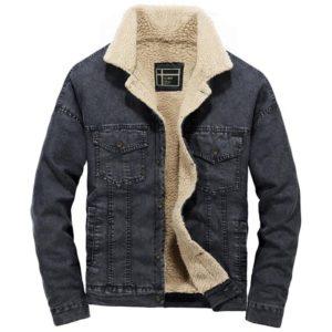 Pánská džínová bunda s kožíškem Nicholas