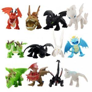 Set 12 dětských figurek draků