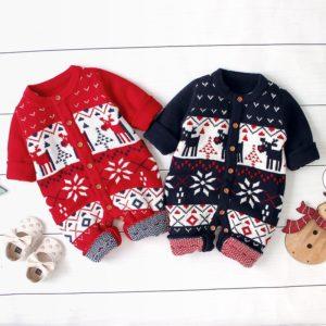 Vánoční teplý overal pro děti