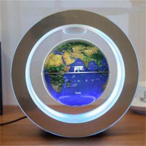 4 palcová osvětlená magnetická levitace plovoucí zeměkoule Mapa Země