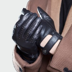 Pánské kožené volnočasové rukavice
