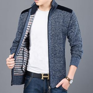 Elegantní pánský svetr na zip