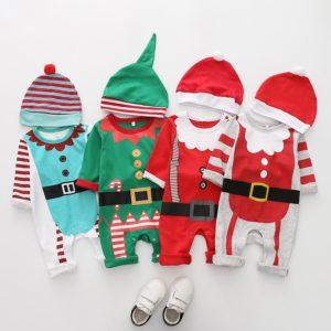 Vánoční set krátký overal s čepičkou
