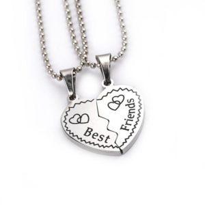 Náhrdelník ve tvaru srdce- nejlepší přátelství