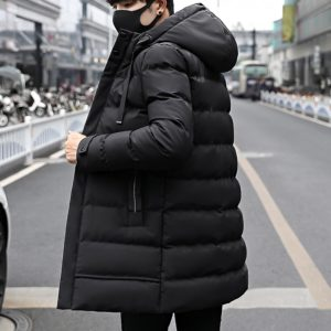2020 New Winter Jacket Casual Men Padded Parka Hooded Man Winter Coat Medium-long Thick Parkas Snowjacket