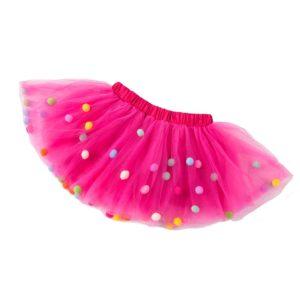 Dětská sukně s kuličkami