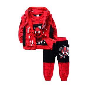 Fashion Children Boy Cartoon Jacket Cotton Sports Sweatshirt + Pants Set Three-piece Set