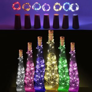 LED Solar Energy Wine Corks String Light Copper Wire Warm Fairy White Garland Home Out-door Christmas Wedding Party Decor Lights
