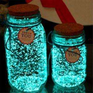 Svítící krystalky Fluorescence / dekorační krystalky svítící ve tmě