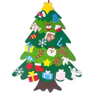 Vánoční stromeček pro děti - Lepení ozdob