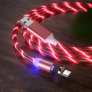 LED Magnetic Cable 1M USB Type C Cord Flow Luminous Lighting Data Wire For iPhone Samsung Huawei Xiaomi Mobile Phone Micro Cable