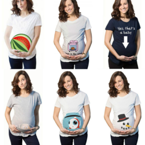 Vtipná těhotenská trička