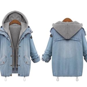 Dámská cool džínová bunda s odnímatelnou podšívkou