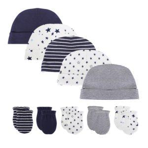 Čepice a rukavice pro novorozence