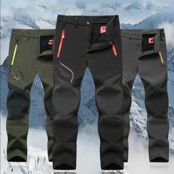 Pánské větruvzdorné outdoorové kalhoty