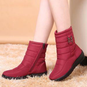 Dámské vyšší nepromokavé zimní boty s kožíškem Evie