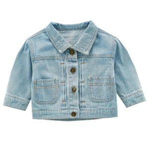 Dětská džínová bunda s obrázkem na zádech