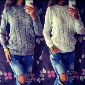 Stylový dámský pletený svetr Angelina